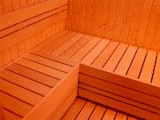 An example of the way we use Aspen for 'Ladder-style' Sauna Benches, etc