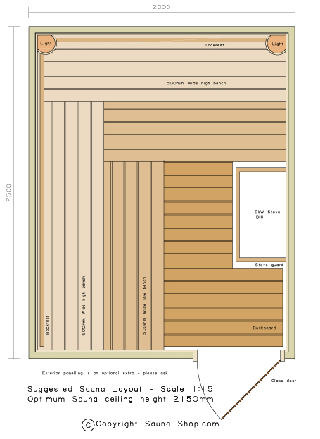 saunas sauna kit design layout