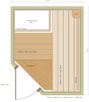 1300 x 1600 Corner Door