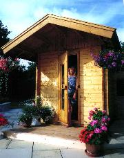 Outdoor Sauna on existing patio - easy!