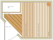 1400 x 1900 Corner Door