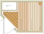 1900 x 1400 Corner Door
