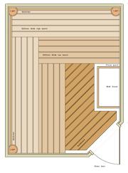 2600 x 2000 Corner Door