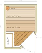 1200 x 1600 Corner Door