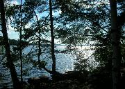A lakeside scene in central Finland