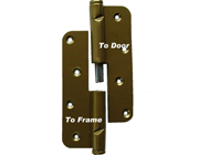 Wooden Door Hinge, (Pair) two-piece RIGHT Replacement