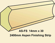 Aspen Finishing Strips for Ceilings and Walls - 2400mm x  pack of 4