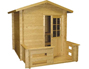 View more on Kuikka Solid-Log Outdoor Sauna 2m x 2m