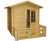 Kuikka Solid-Log Outdoor Sauna 2m x 2m