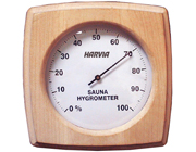 Hygrometer in Square Wooden Case