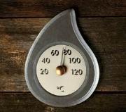 Soapstone Sauna Thermometer 'Pisarainen'