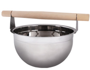 Stainless Steel Sauna Bucket with Wooden Handle - 5 Litre