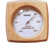 Thermometer in Square Wooden Case