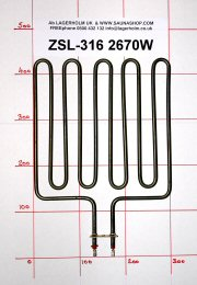 2670W Sauna Stove Element SS-EH2670-CL