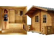COMPLETE SAUNAS - for Indoor and Outdoor enjoyment