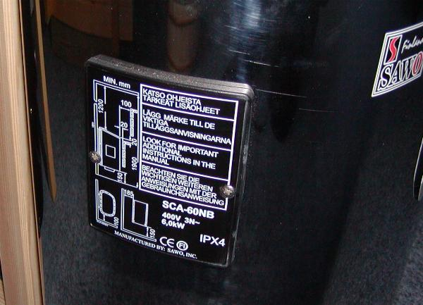 The Maker's Plate shows the vital information to identify your stove, etc